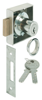 Deadbolt Lock, Keyed Different, 25 mm Backset