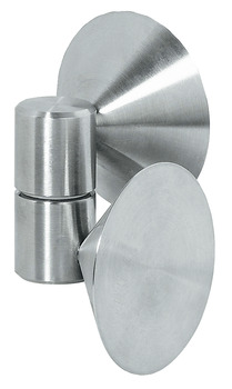 Glass Door Hinge, Opening Angle 180°, Stainless Steel